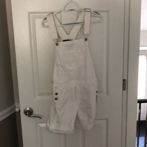 Lucky Brand White Overall Shorts